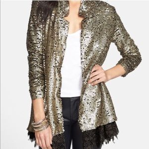 SALE Free People Stardust lace and sequin blazer